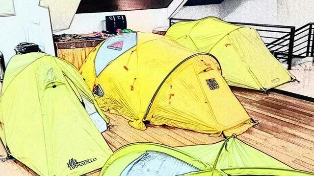 The Merapi Mountain tent.