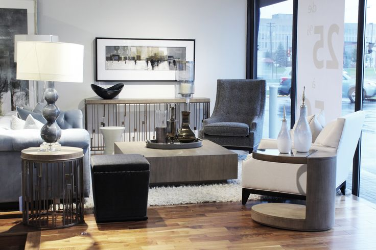 contemporary classic living room display at Avenue Design Canada in Montreal Qc.
