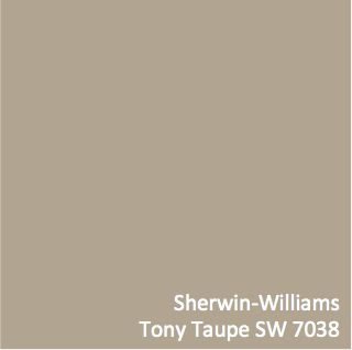 This is one of the most versatile colors for your walls. Sherwin-Williams Tony Taupe SW 7038 #ColorPizazz
