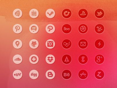 Basic Social Icon Set