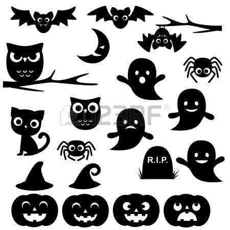 Afbeeldingsresultaat voor halloween silhouetten