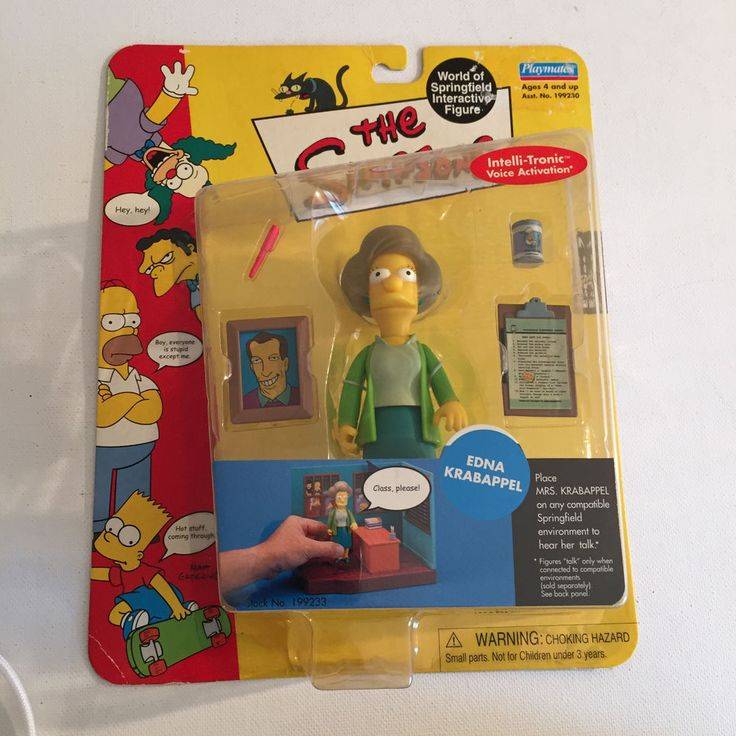 "The Simpsons Edna Krabappel 5"" Action Figure  #PlaymatesToys"