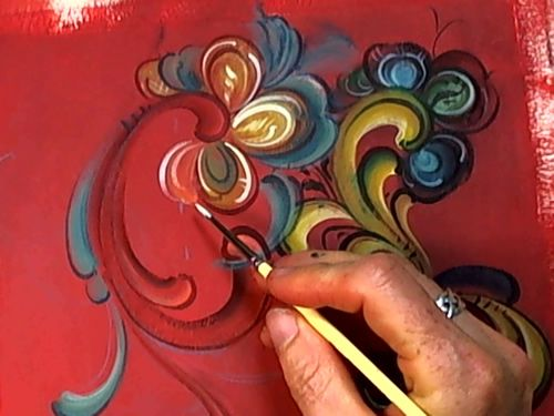 Jo Sonja-norwegian folk art painting--Tutorial