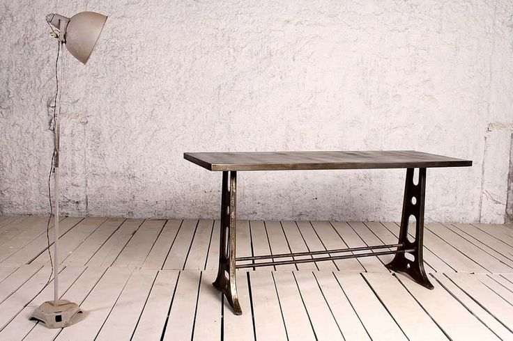 Schillers Communal Bar Table: Metal Top in Charcoal Colour