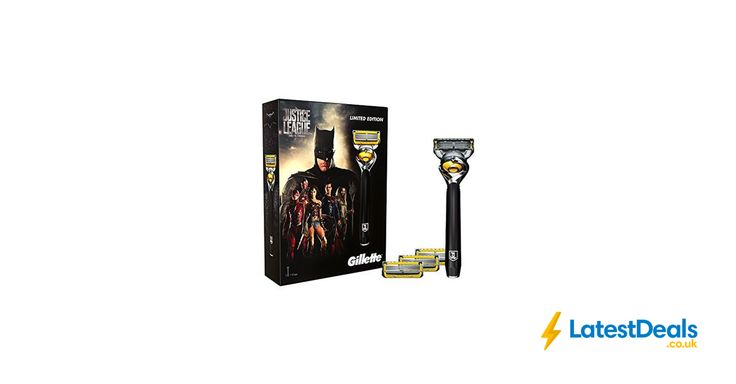 Gillette Fusion ProShield Men's Razor Gift Set Justice League + 3 Blade Refills, £10.49 at Amazon UK