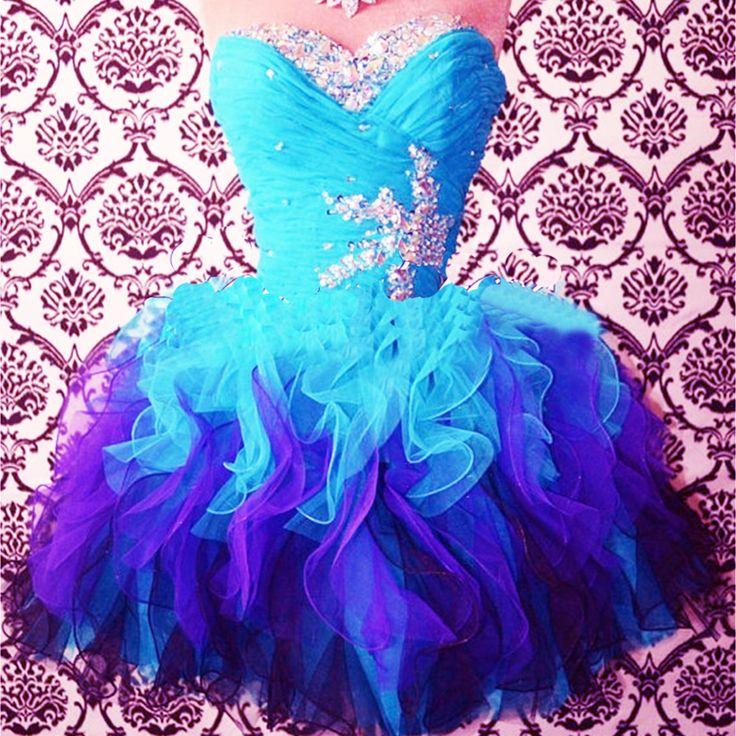 2015 cute sweetheart strapless sky blue beaded short prom dress, ball gown, bridesmaid dress, evening dress #promdress #wedding