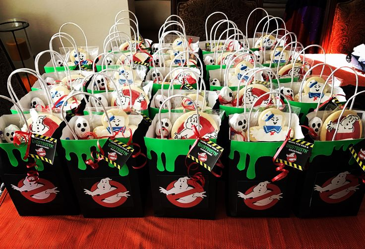 Ghostbuster birthday party good bags.                                                                                                                                                                                 More