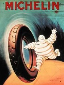 anuncio antiguo de michelin