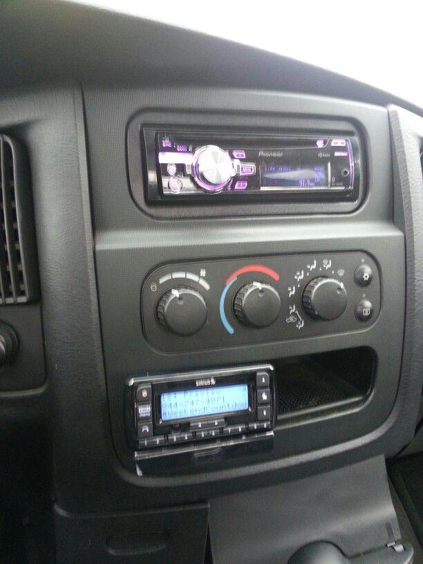 Pioneer radio and SiriusXM in dodge ram