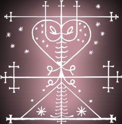 Veve of Maman Brigette for True Love Voodoo Spells