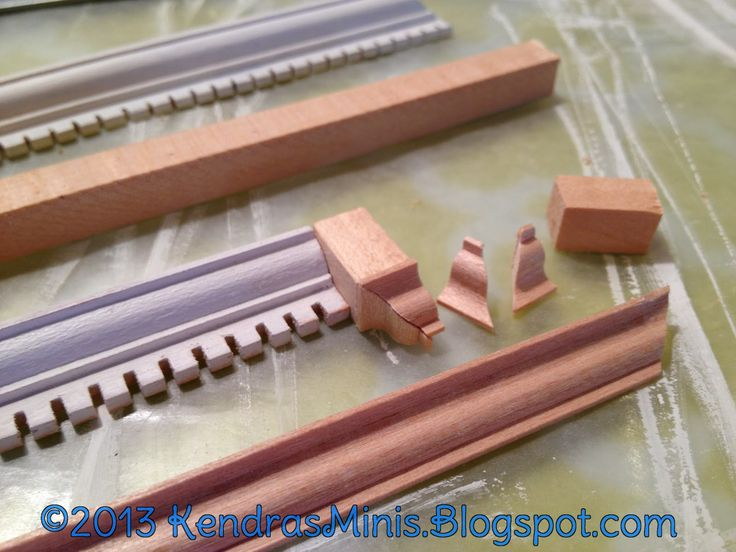 Kendra's Minis: Dollhouse Mitering Shortcut!