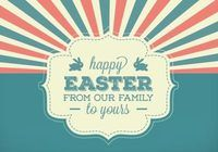 Vintage Style Easter Background Vector