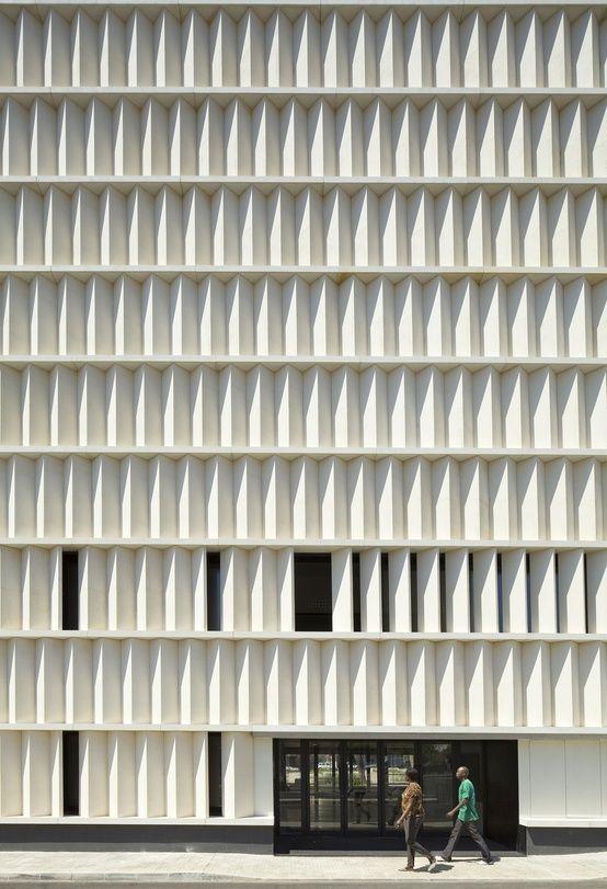 Angles Louvers As Solid Facade Precast Concrete Louvers