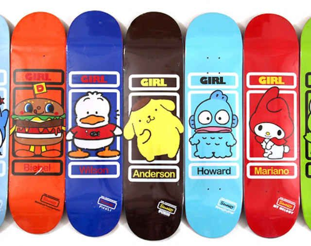 girl skateboard x sanrio team skateboard decks freshness mag - Skateboard Design Ideas