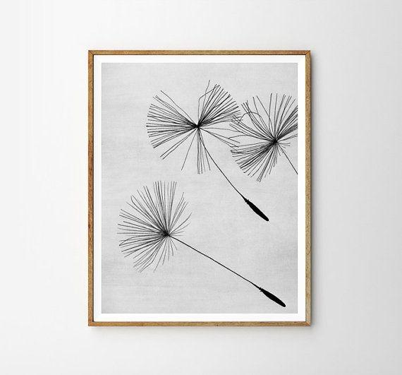 Dandelion Plant print Minimalistic Modern art от WallArt2Decor
