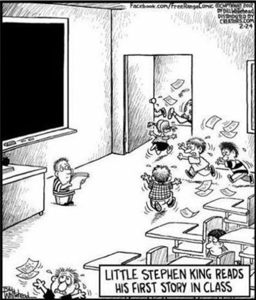 Little Stephen King reads his first story in class