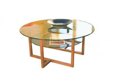 Brutus sofabord oak glass round table shelf swedish design englesson www.helsetmobler.no