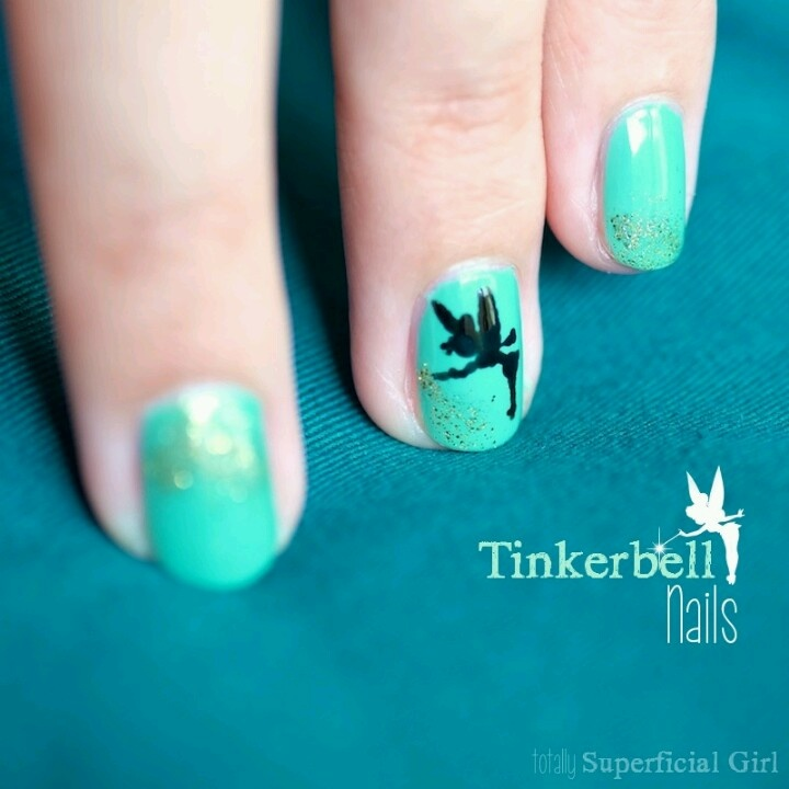 Tinkerbell Nails: 1000+ Images About Disney Inspired Nails On Pinterest