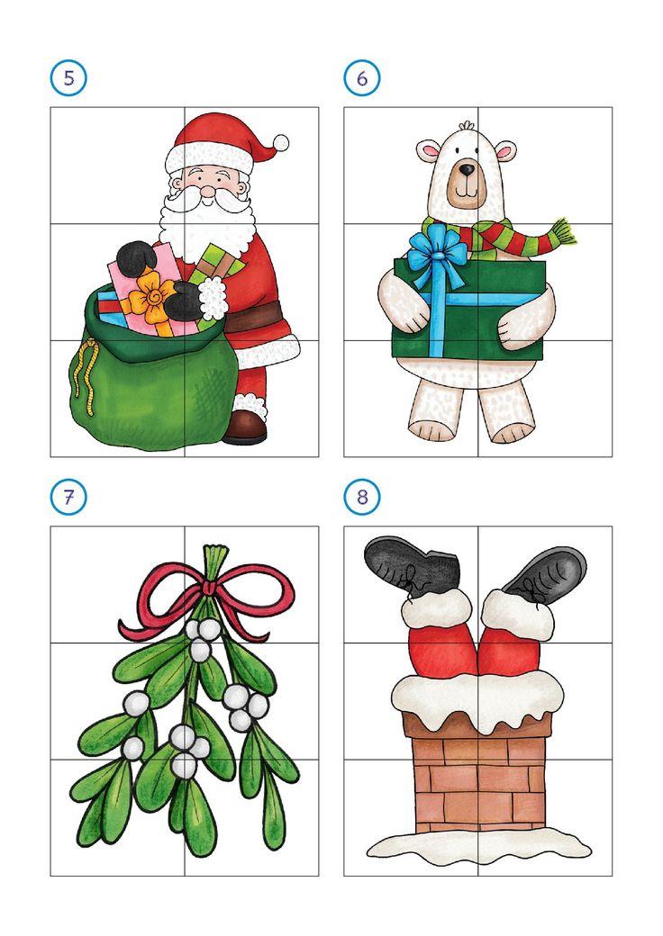 M s de 25 ideas incre bles sobre puzzles infantiles en - Motivos navidenos dibujos ...