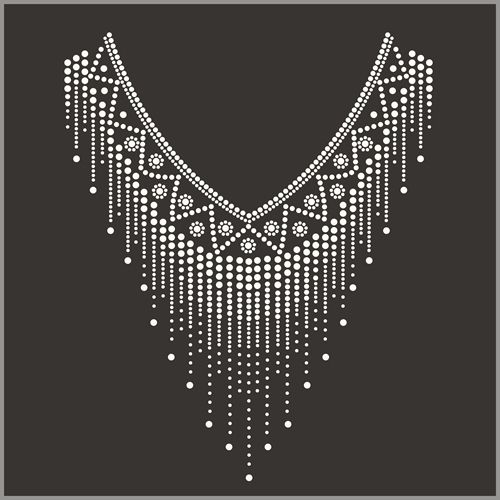 Source hot fix crystal rhinestone motif neckline design on m.alibaba.com