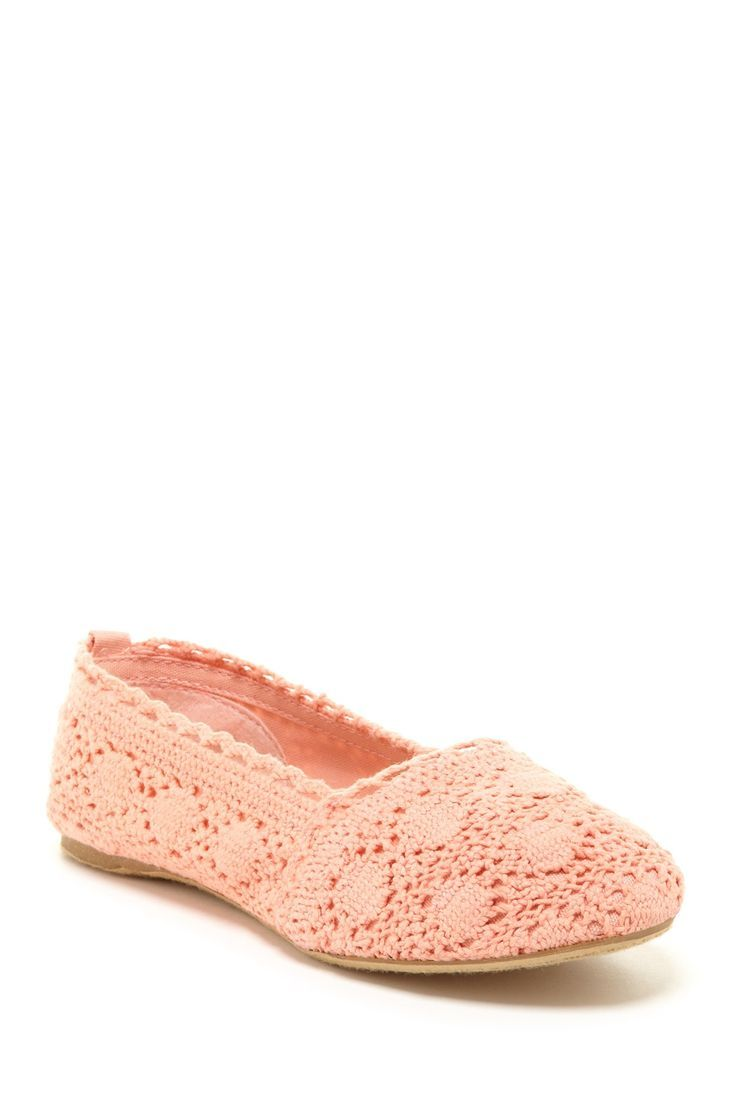 Bucco Macy Crotchet Flat......luv this pastel peach