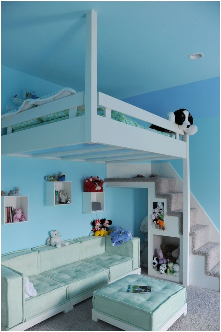 Hanging loft bed for kids - kids rooms