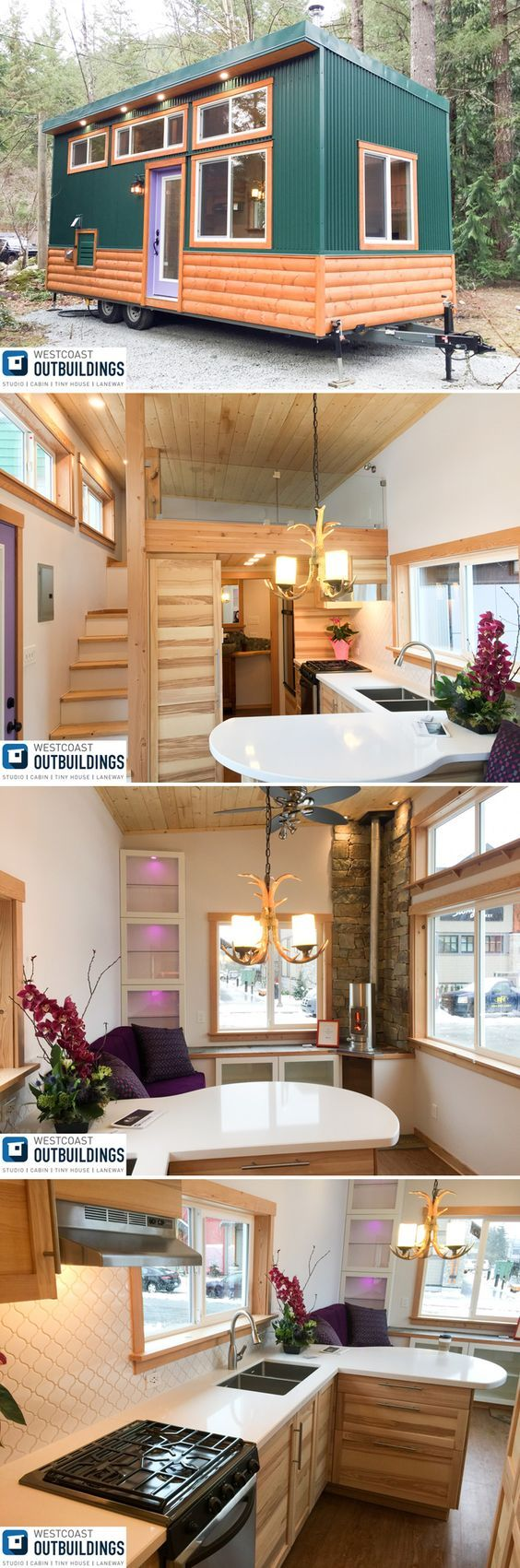The Skookum is a 24' modern cabin style tiny house built by Westcoast Outbuildings in North Vancouver, British Columbia.