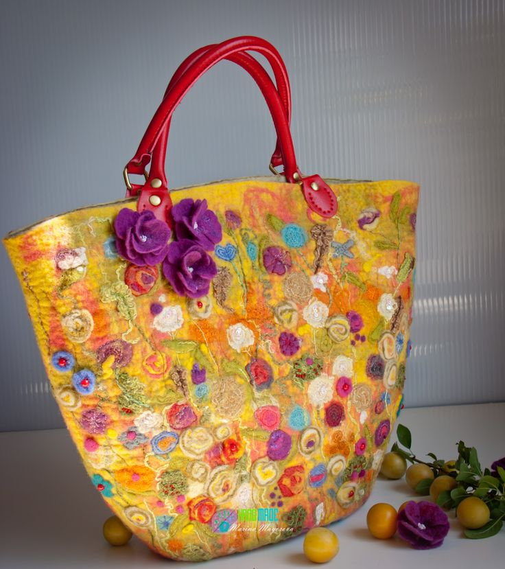 "Bag handmade from felt ""Multicolored summer"""