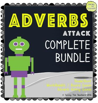 Adverb Activities and PowerPoint! Everything you need to teach activities!