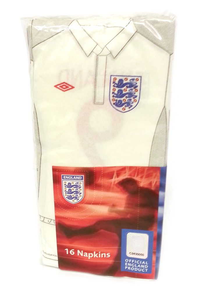 Pack Of 16 England Football Shirt / Kit Napkins FA Official Licensed Product in Home, Furniture & DIY, Celebrations & Occasions, Party Supplies | eBay #HarvardMills #LordOfTheLinens #football #merchandise #England #EnglandFootball #FA #FAWorldCup #sport #support #team