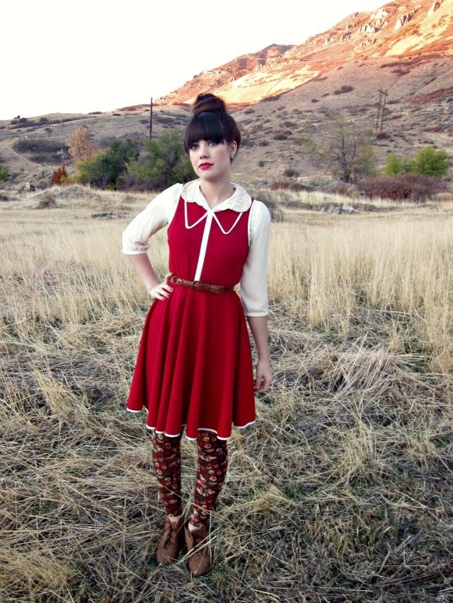Red + rose leggings.