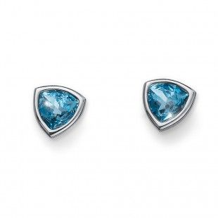 Oliver Weber Women light blue aqua trilli earrings with Swarovski Crystals