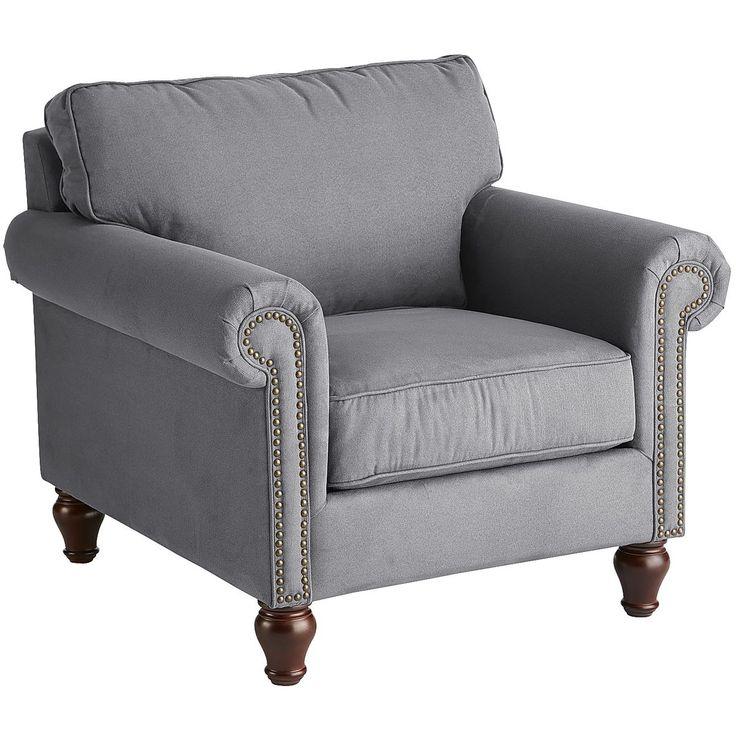 Best Alton Graphite Gray Rolled Armchair Armchair Comfy 400 x 300