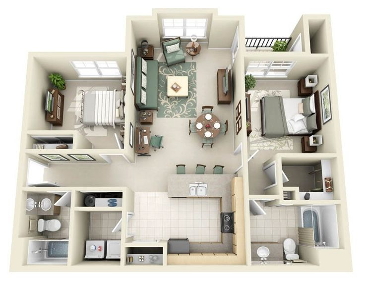 10 Best House Plan Images On Pinterest   Home Ideas, 2 Bedroom