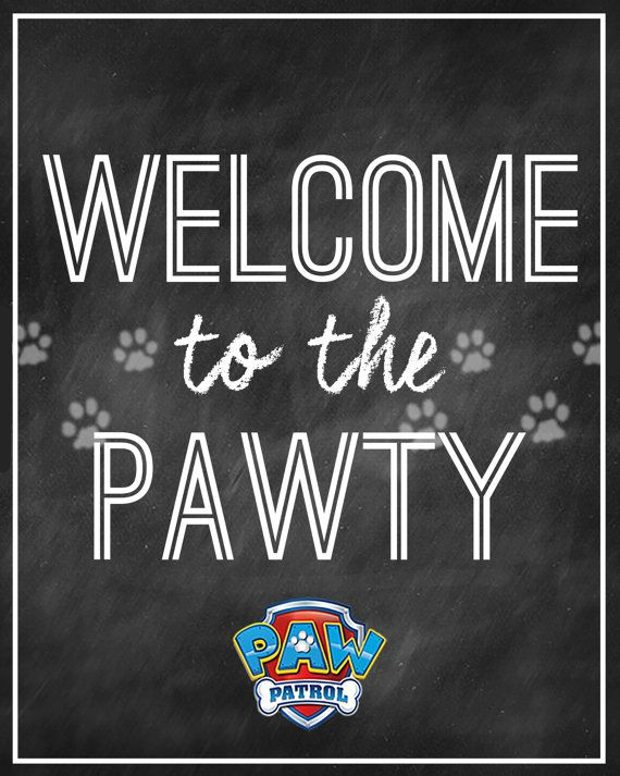 PAW PATROL Party Welcome Sign Instant Download por LitlenEvents