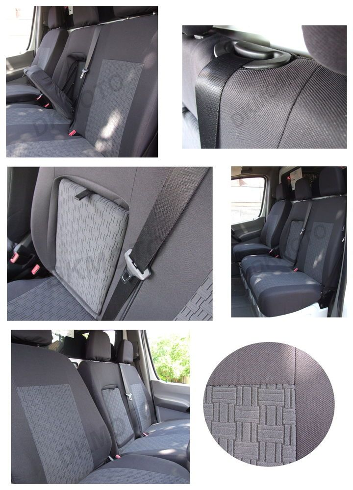 Tailored VAN seat  covers for  MERCEDES SPRINTER VW CRAFTER 1+2  06-onwards  - 1