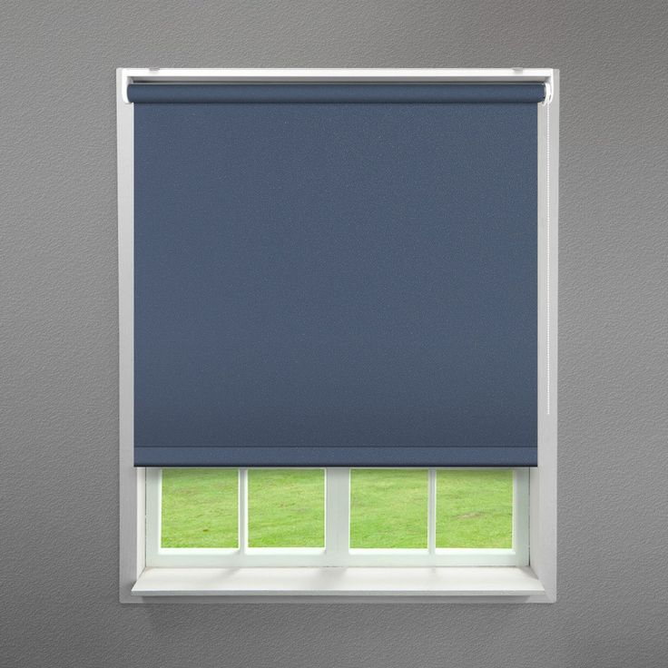 Navy Ash Blue Textured Roller Blind