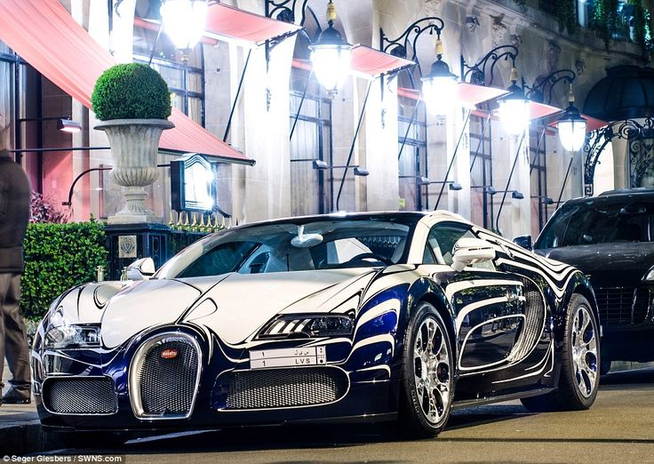 One-off: The astonishing porcelain Bugatti Veyron L'Or Blanc was made last year but it has never been seen on the road in Europe until now