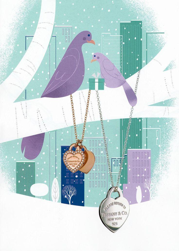 Tiffany & Co. 2014 Holiday Catalog Illustrations