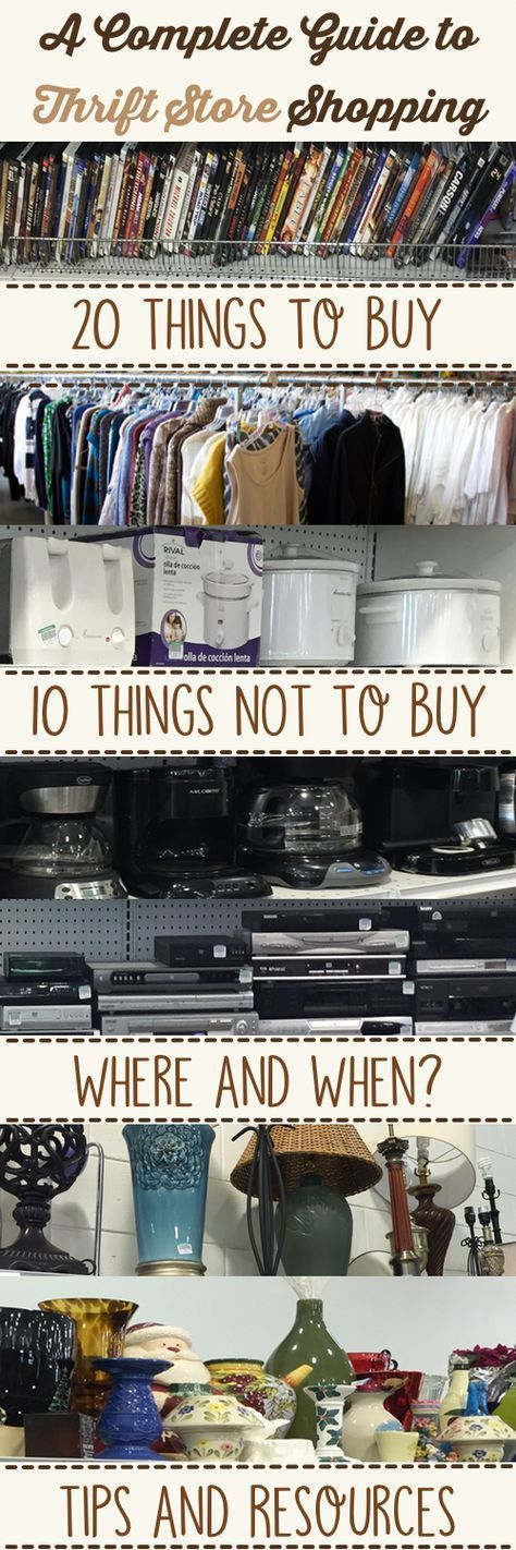 Thrift Stores 101: A Complete Guide to Thrift Store Shopping #repurposedfurniturethriftstores