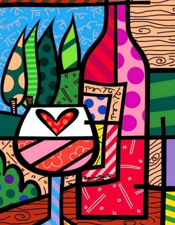 Pinturas & Cuadros: Pinturas Modernas, Romero Brito, Brasil