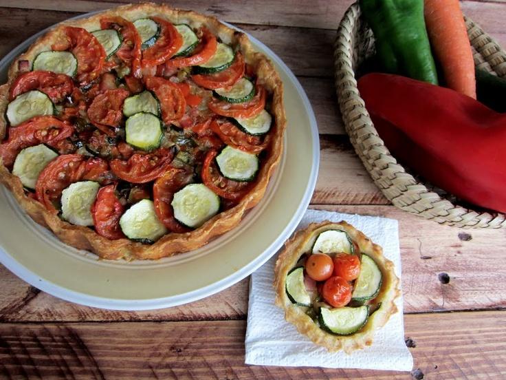 tarta de hojaldre con verduras