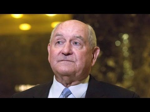 Trump Picks Agribusiness & Chemical Industry Darling Sonny Perdue as Secretary of Agriculture - YouTube