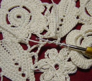 how to attach irish lace