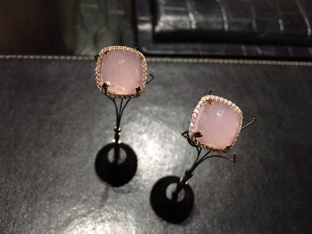 Candy earrings in pink by Moro&Ognissanti retail at $590.00 and matching ring $515.00 Treat yourself to the luxury styling of these jewels !  www.franco.com.au
