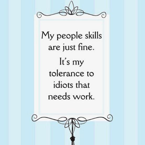 people skills ...