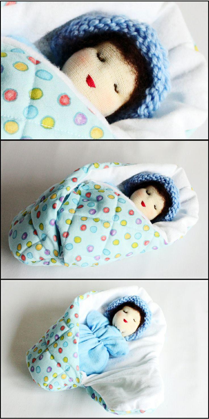 Blue Snugglepod Baby Bunting - Waldorf Toys.