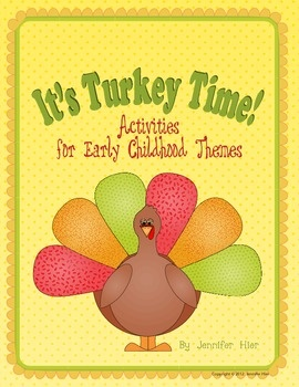 Bundle of turkey and Thanksgiving activities for preschool kiddos