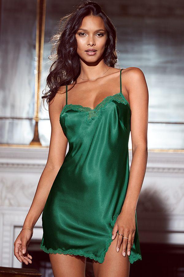 Wholesale Sexy Mature Milf Emerald Green Chiffon Dress Sexy Lingerie
