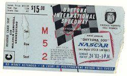 Thumbnail of 1963 Daytona 500 Ticket Stub nascar race
